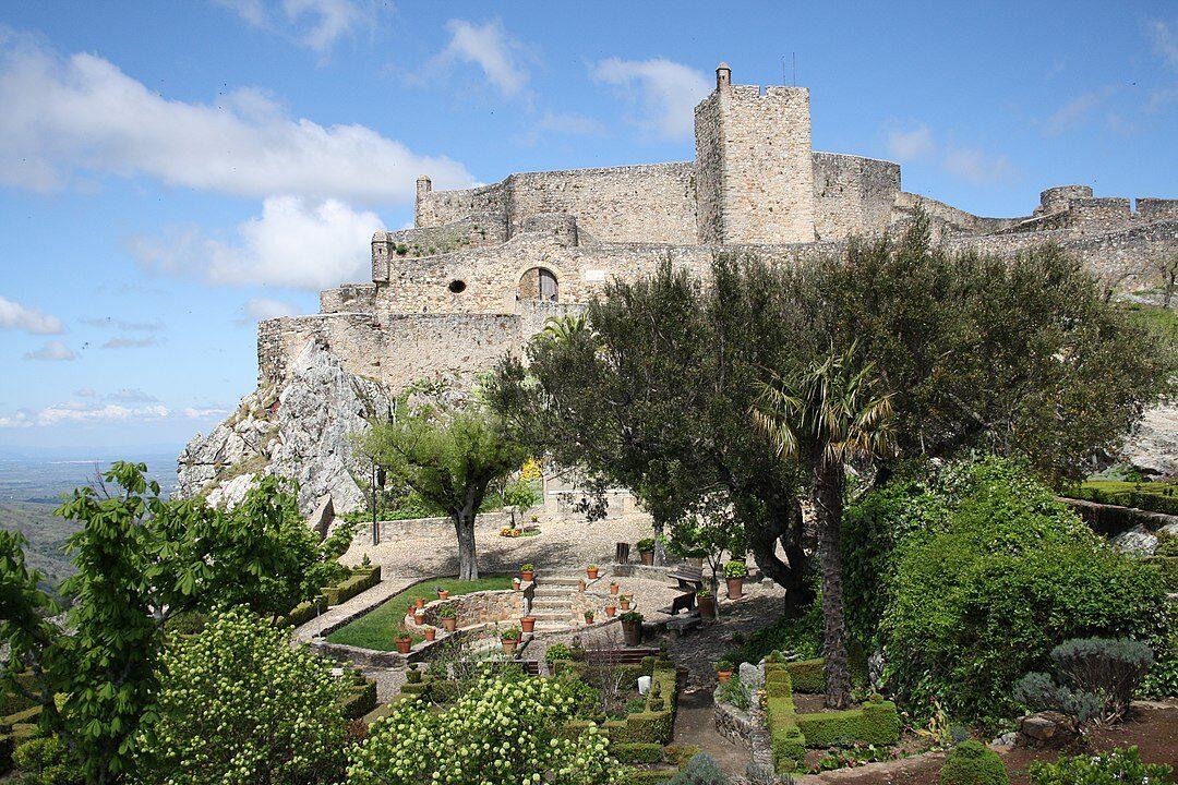 Il castello di Marvão nell'Alentejo, Portogallo